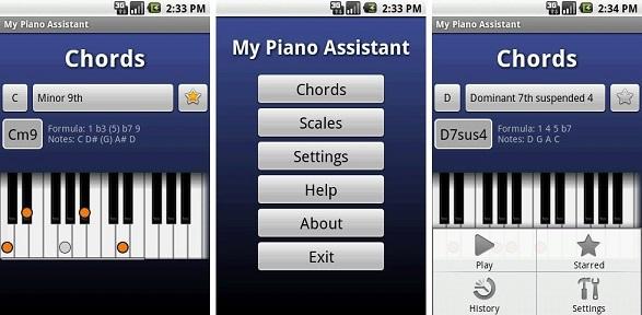 اپلیکیشن My Piano Assistant - هوچین