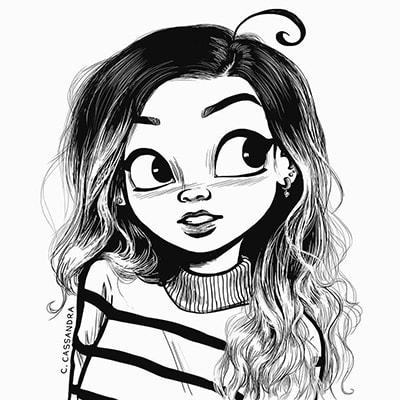 نقاشی فانتزی دختر
